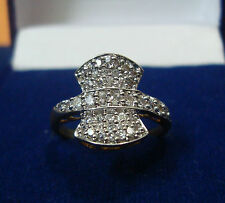 NEW ONE GRAM GOLD PLATED FINGER RING CUBIC ZIRCONIA AMERICAN DIAMOND F399