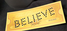Polar Express Train Ticket PUNCHED HOLES - ANY WORDS