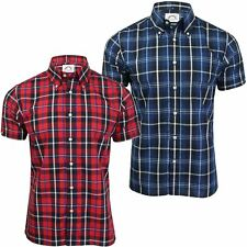Mens Check Shirt by Brutus Trimfit Short Sleeved