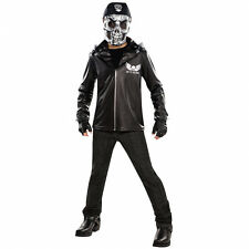 Teens Bad To The Bone Skeleton Halloween Fancy Dress Outfit Age 12 - 16