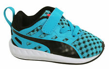 Puma Flare Lace Up With Strap Infants Blue Black Trainers 188595 01 D13