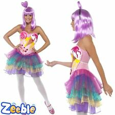 Womens Pop Star Icon Fancy Dress Costume Katy Perry Candy Queen Outfit
