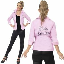 Grease Pink Ladies Deluxe Jacket High School 1950s Fancy Dress Licenced Jacket
