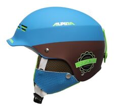 Alpina Spam Berretto Junior Casco da Sci Bambini Casco da Sci Blue Marrone OPACO