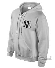 90 s Zipped Hoodie Wasted Swag Gift Street Hipster Men Birthday Womens