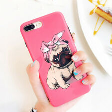 Cartoon Cute Pet Dog Shockproof Pink Soft IMD Phone Case for iphone 6 6s 7 plus