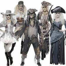 Adult Mens Womens Pirate Ghost Ship Zombie Sailor Halloween Fancy Dress Costume