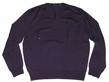 Polo Ralph Lauren Mens Italy Merino Wool V Neck Custom Pony Logo Sweater 2XL
