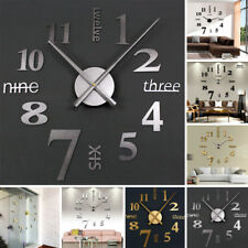 Moderno Bricolaje Reloj de pared 3d ESPEJO SUPERFICIE Adhesivo de pared