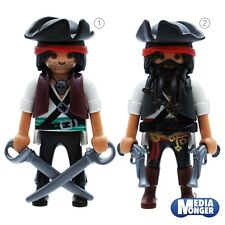 PLAYMOBIL PIRATE PIRATE CORSAIRE CAPITAINE gebräunt