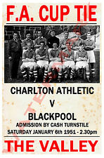 Charlton Athletic - Vintage Calcio Poster CARTOLINE - Scegli tra elenco