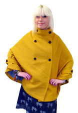 SALE! NEW FLOW SUPREMEBEING RETRO MOD SIXTIES WOMENS CAPE IN YELLOW K32