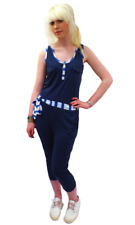 SALE! NEW! 'BATTON' SUPREMEBEING WOMEN'S RETRO 70S JUMP SUIT IN NAVY K33