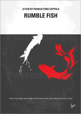 Poster / Leinwandbild No073 My Rumble fish minimal movie poster - chungkong