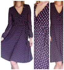 femmes robe manches longues moulant extensible Midi Taille 8 10 12 14 16 18 20