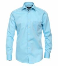 Casamoda Camisa Moderno Ajuste Manga Larga Turquesa Chambray Kent NORMAL Office