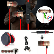Red -ZH56 Magnetic Bluetooth Handsfree Headset Earphone For Cell Phone Samsung