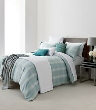 Blue & White Check VERVBIER Brushed Cotton Duvet Cover, Pillowcase or Sheets.