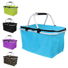 Camping Outdoor Large Insulated Picnic Basket - 32L Collapsible Cooler Bag