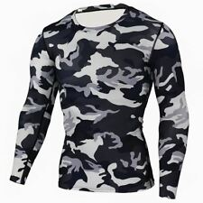 New Camouflage Military T Shirt Bodybuilding Tights Fitness Men Quick Dry Camo L