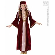 Girls MEDIEVAL QUEEN Costume for Middle Dark Ages Fancy Dress Outfit