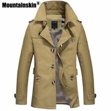 Trench Coat Mens Jacket Long Coat Mens OverCoat Slim fit Brand Clothing Windbrea