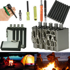 1/2/5X Emergency Magnesium Flint Fire Starter Rod Lighter Camping Survival Gear