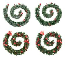 Best Artificial Decorated Red or Red Frosted Luxury Christmas Garland Led Lights