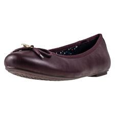 Womens Tommy Hilfiger Claudia 1a1 Leather Brown Shoes Ballerinas Casual BNIB