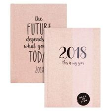 A6  2018 Week To View Glitter/Sparkle Pocket Diary/Planner