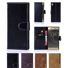 32nd Premium Series - Real Leather Book Wallet Case For Sony Xperia XA1 Ultra