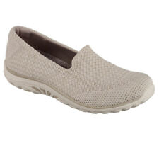 NEU SKECHERS Damen Sneakers Loafer Memory Foam REGGAE FEST - STITCH UP Taupe