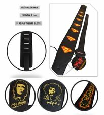 Extra Wide PU Leather Vegan Acoustic Electric Bass Guitar Shoulder Strap