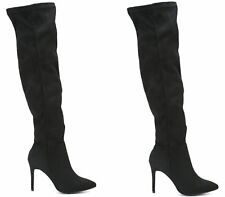 New Ladies Over the Knee Boots Womens Thigh Stretch Pointed Stiletto Shoes Size