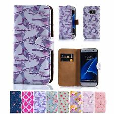 32nd Floral Series - PU Leather Book Wallet Case Cover - Samsung Galaxy S7 Edge