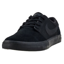 Mens Nike SB Portmore Ii Solar Suede & Synthetic Black Shoes Trainers Casual