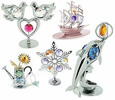 Crystocraft DE COLLECTION NEUF CRISTAL ORNEMENTS AVEC SWAROVSKI ELEMENTS