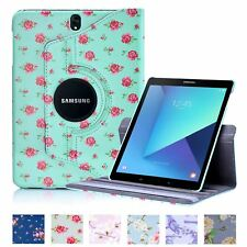 32nd Floral Series - PU Leather Folio 360 Stand Case Cover Samsung Galaxy Tab S3
