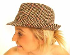 Campbell COOPER TOUT NEUF traditionnel CLASSIQUE TWEED PAYS CHAPEAU MOU MARRON