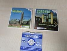 Vintage Viewmaster 3D Reel Packets - CANADA, Toronto, Ottawa, Montreal