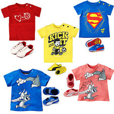 Puma Cuna Pack Ante SUPERMAN Tom y Jerry Niños Camiseta & Zapato Zapatillas Sets