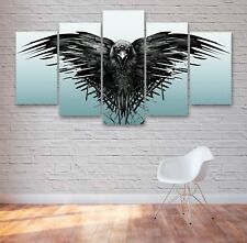 Game Of Thrones Raven 5 Panel Canvas, 5 Piece Wall Art, Multi Panel Canvas #041