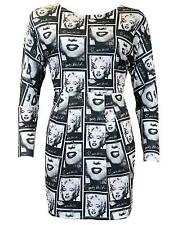 SALE! MARILYN MONROE ANDY WARHOL PEPE JEANS POP ART BODYCON DRESS Starship H164