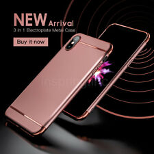 For iPhone X Case Hard Slim Back Cover Luxury Electroplate Metal Bumper Shell