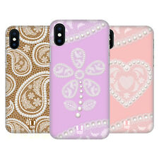 HEAD CASE DESIGNS LACCI E PERLE 2 COVER RETRO RIGIDA PER APPLE iPHONE TELEFONI