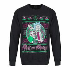 Official Licensed Adult Swim Rick and Morty Portal Christmas Jumper Sweater