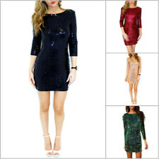Sexy Women Party Evening Cocktail Sequins Bodycon Club Mini Pencli Dress
