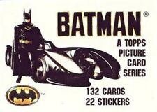 BATMAN 1989 1ST SERIES BY TOPPS     BASE /BASIC/SINGLE CARDS  1 to 132 choose