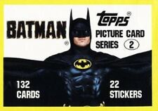 BATMAN 1989 2ND  SERIES BY TOPPS     BASE /BASIC/SINGLE CARDS  133 to 264 choose