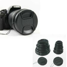 Front Lens Cap Hood Cover Snap-on For Canon Sony Olympus Nikon Camera 49mm -77mm